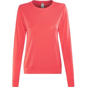 Icebreaker Mira LS Crewe Shirt Women poppy red
